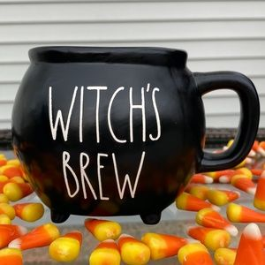 """Rae Dunn - Double Sided """"WITCH'S BREW"""" RECIPE Mug"""